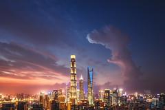 龙舌 (Cameradoggy) Tags: landscapes shanghai china architecture city cityscape nigh night nightscape urban skyline skyscraping longexposure color morden financial