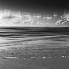 Mawgan Porth II 1-1 (Bruus UK) Tags: mawganporth cornwall bw blackwhite beach seascape coast atlantic sand sea sky clouds blur motion tide waves surf naturelovers deserted summer getoutside adventure beachcombing
