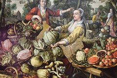 The Four Elements: Earth By Joachim Beuckelaer (meg21210) Tags: fourelementsearth painting art nationalgallery mannerist joachimbeuckelaer fourelements london england uk greatbritain vegetables background distance holyfamily