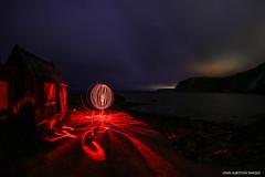 Port Mulgrave False Lights (john&mairi) Tags: port mulgrave harbour ironstone mine charles palmer orb red led whitby lythe summer holiday yorkshire landslip uk cleveland hut headland light pollution