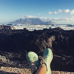 A nice view for a run (rjmiller1807) Tags: iphonography tablemountain capetown blouberg nike trainers running run runner rocks rockpool blaauwberg 2017 may sea view scenery nature
