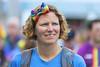 Rainbow lady (Frank Fullard) Tags: frankfullard fullard candid street portrait rainbow pride parade mayo irish ireland castlebar lgb smile blue march lgbt