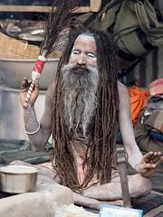 Kolkata - Naga Sadhu (sharko333) Tags: travel voyage reise street india indien westbengalen kalkutta kolkata কলকাতা asia asie asien people portrait man sadhu beard olympus em1