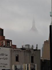 Empire State Valhalla (RosieBartolozzi) Tags: clouds mist nyc ny empitestatebuilding skyscraper manhattan newyork newyorkcity thehighline chelsea meatpacking nycparks park citypark nypark valhalla buildings architecture