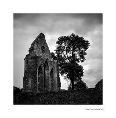 the ruined abbey... (bevscwelsh) Tags: abbey ruins vallecrucis llangollen northwales fujifilmx100f