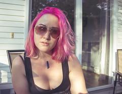 198 (amyjutras) Tags: self selfportrait 365selfportrait 365 pink pinkhair orange sunglasses summer summervibes aviators
