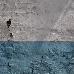 Unsmooth (No Great Hurry) Tags: explored explore texture surface minimal square nogreathurry urbanabstract robinmauricebarr 500mm prime textured wall foundpainting blue white shadow decay blueandwhite cracks lines patches minimum unsmooth