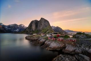 Hamnøy in the Midnight Sun