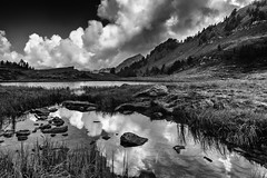 Clouds, rocks and water (drugodragodiego) Tags: bagolino valledelcaffaro vallesabbia provinciadibrescia lombardia laghidibruffione landscape mountain nature clouds rocks water lago paesaggio blackandwhite blackwhite bw biancoenero pentax pentaxk1 k1 pentaxda12244edalif smcpentaxda1224mmf4edalif pentaxiani pentaxart