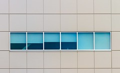 Window Strip (Karen_Chappell) Tags: window windows architecture building blue stjohns newfoundland nfld city urban geometry geometric rectangle square shape lines line grey abstract
