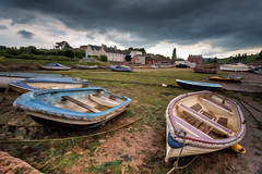JP5D0866-#2 (John Perriam DPAGB AFIAP) Tags: boat cockwood devon england uk storm clouds buildings mud lowtide canon eos