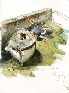 Barque à Sauzon