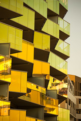KOH I NOOR, Building (St James Gate) Tags: kohinoor building construction montpellier france architecture modern yellow jaune reflets