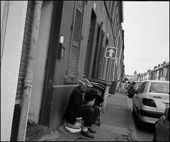 Human (intasko) Tags: monochrome film analog roubaix france landscape mju olympus bw pellicule peace paix homme vision urban city pile