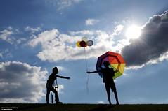 Helping Hand (disgruntledbaker1) Tags: disgruntledbaker umbrella balloons helping