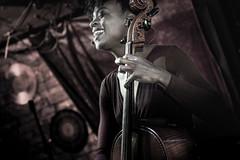 In Performance - Ayanna Witter-Johnson (Revisit) (DarrenCowley) Tags: inperformance ayannawitterjohnson gig jazz live musician cello purple portrait expressive artist highcontrast