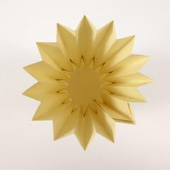 Simple Corrugated Vase (Michał Kosmulski) Tags: origami corrugation vase pot rays circle michałkosmulski elephanthidepaper yellow sun