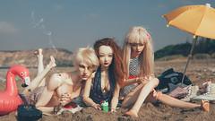 (mimiau_m) Tags: bjd bjdstory sea seaside beach summer flamingo supia rosy zaoll luv hybrid 5thmotif venitu recast