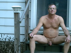 Nude in backyard of Grafton house 10-11-2015 (fredallen3) Tags: naked nude nudist man me male outdoors