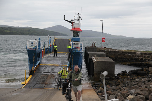 Disembarking the ferry at Feolin, Jura