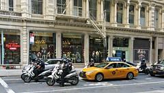 Sunday Colours - Police Escort (Pushapoze (nmp)) Tags: newyorkcity chelsea police cab escort car voiture motorcycle