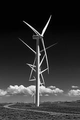 Wind Power (jetguy1) Tags: windmill wind wyoming electricity greenpower energy eco bw blackwhite fan