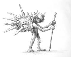 Hermit (Marcos Telias) Tags: fiend gnome troll sea shell magic creature elven elf elfo hermit illustration drawing dibujo ilustración sketch boceto bosquejo arte artista artist ballpoint bolígrafo pen lápiz fantasy