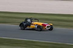 Supersport Stevens #27 panning shot (Jim Waldron) Tags: caterham donington panning supersport hairpin