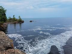 River Mouth into Superior (Knaupter) Tags: minnesota mn northshore shore beach river lake superior lutsen silverbay