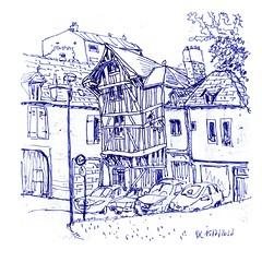 3 (DirkLefebvre) Tags: vakwerk urban sketching vulpen croquis vakantieschetsjes schets