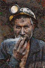 Azure Skie Mosaico (by zurera) Tags: digital hd art collage retratos portraid zurera people fotomontaje image autoretratos mosaic