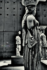 DSC_0855n (Enorasis Project photography) Tags: caryatids αττική αθήνα athens museum acropolismuseum greece ancientgreece acropolis bw blackwhite nikon1j1 monochrome gimp debian ακρόπολη