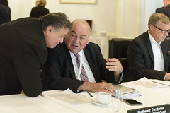 Premiers/premier ministres Taptuna, McLeod and/et Wall during the meeting/durant la rencontre