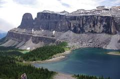 Both Lakes visible (Andrew Pizzinato) Tags: rockboundlake towerlake mountain lake water hiking castlemountain banff banffnationalpark