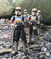 Scarif Troopers on patrol. (chevy2who) Tags: one rogue starwarsblackseries troopers scarif inch six series black toyphotography toy wars star