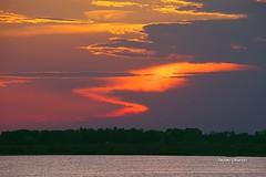 Zig-Zag (stefano.chiarato) Tags: tramonto sunset vallidipesca acqua cielo rosolinamare veneto italy pentaxart