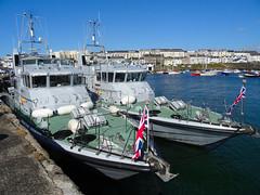 HMS Dasher & HMS Pursuer in Portrush, July 2017 (nathanlawrence785) Tags: hms dasher pursuer p280 p273 portrush harbour antrim northern ireland royal navy p2000 archer class patrol boat vessel