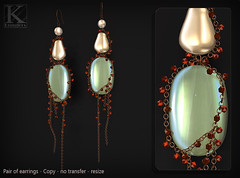 (Kunglers) Paty earrings AD pearl (AvaGardner Kungler) Tags: earrings shinyshabbysl kunglers avagardnerkungler avakungler secondlifejewelry statementjewelry