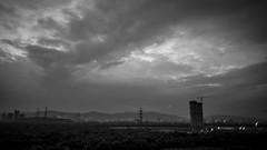 Airoli, Navi Mumbai (xtacion) Tags: wideangle landscape blackwhite architecture skyline india mumbai airoli bombay clouds sky construction civilworks underconstruction sonya7sii fotodiox fdtoenex fdlens24mm