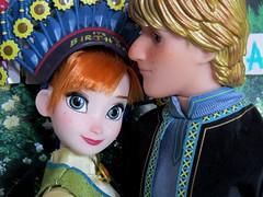 Birthday love (Foxy Belle) Tags: doll disney frozen fever diorama 16 birthday anna kristoff boyfriend romance embrace