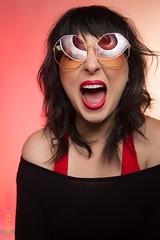 Jenny Bouton Screams in Sunglasses (ScottRKline) Tags: alltrue jennybouton redlipstick scottrklinephotography sunglasses scream