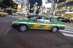 Taxi! (Pete Rocks) Tags: japan summer 2014 tokyo nikon d7000 1116mm tokina shibuya crossing night panning taxi
