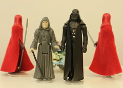 The Two Siths (Gregorian-Emporium) Tags: star wars original vintage kenner figures action emperor darth vader royal guards sith lord palpatine anakin skywalker