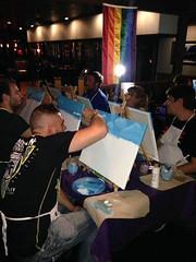Painting the sky (Michael Mahler) Tags: bisexual erie eriecounty eriecountypa eriepa gay lgbt lgbtqia lesbian nwpapridealliance painting paintingwithpride pennsylvania pride transgender zonedanceclub