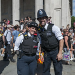 "Metropolitan police officers at London Pride • <a style=""font-size:0.8em;"" href=""http://www.flickr.com/photos/28211982@N07/35276649163/"" target=""_blank"">View on Flickr</a>"