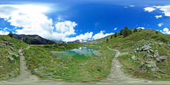 Schweiz - Sunnegga, Bergsee 360 Grad (www.nbfotos.de) Tags: sunnegga alpen berge gebirge mountain bergsee see 360 360grad 360gradfoto theta ricohthetas zermatt schweiz switzerland