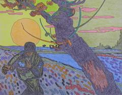 Le semeur au soleil couchant - Van Gogh - 1888_0 (Luc II) Tags: vangogh