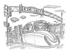 Encinitas (rod1691) Tags: bw scifi grey concept custom car retro space hotrod drawing pencil h2 hb original story fantasy funny tale automotive art illistration greyscale moonpies sketch encinitas
