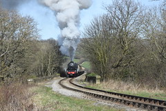 LMS Black Five No.44806 southbound at Esk Valley on 26th March 2017 [NYMR] (soberhill) Tags: rail railway train steam 2017 northyorkshiremoorsrailway nymr lms blackfive black5 44806 eskvalley