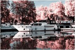 Strasbourg_Port autonome_Infrared (regis.muno) Tags: nikond7000 strasbourg strasburg leport leportautonome hafen alsace france grandest ill infrarouge infrared bateau